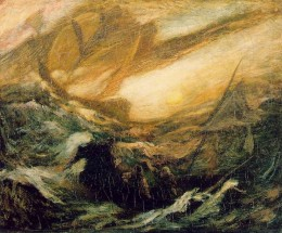 The Flying Dutchman. Painting by Albert Pinkham Ryder