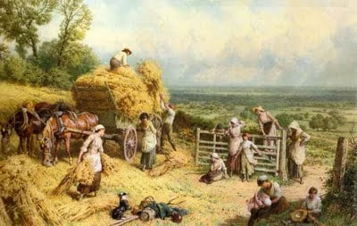 Harvest Time, by Myles Birket Foster (famous Victorian painter)