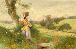 The Milkmaid, by Myles Birket Foster