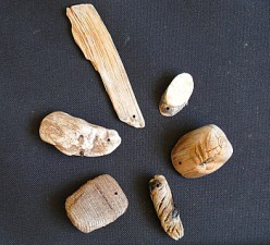 These small pieces of driftwood are drilled and ready to be imagined into unique, one of a kind finished designs.