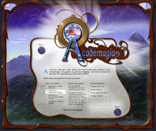 Academagia's RPG system is very deep with dozens skills, abilities and bonuses