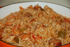 Bounty Of The Bayou Jambalaya so called, because the crawfish, shrimp, pork or wild boar, all come from the Bayou!