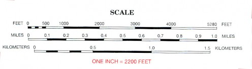 Scale of Miles or Kilometers