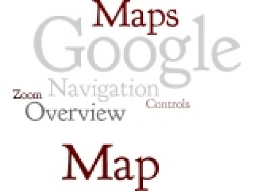 Google Maps Navigation Wordle by Humagaia