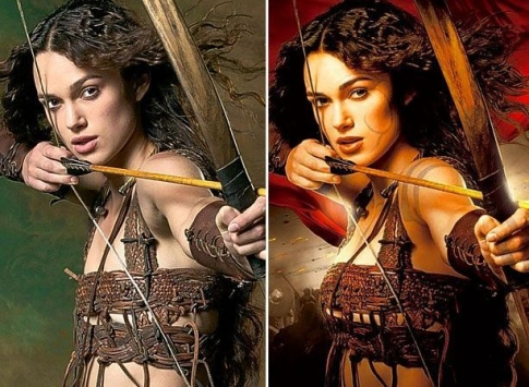 Her Photoshop Breasts for the King Arthur Film.