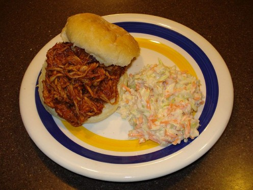 Cole slaw is a classic barbecue side dish.