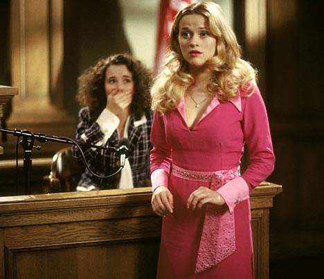 Reese Witherspoon is Elle Woods in Legally Blonde