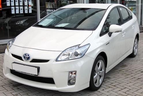 Toyota Prius courtesy  http://en.wikipedia.org/wiki/File:Toyota_Prius_III_20090710_front.JPG