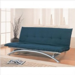 Silver Finish Metal Futon Frame by Coaster
