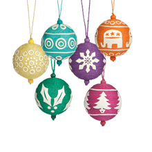 Fairtrade decorations from Jute Works, sold by Traidcraft. Source: www.traidcraft.co.uk