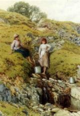 """Highland Burn"" by Myles Birket Foster, from passionforpaintings.com"