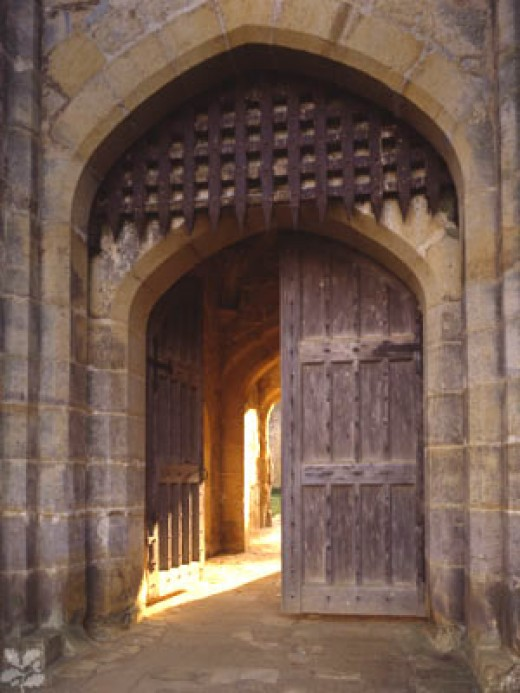 The original woodern portcullis is extremely rare