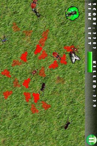 Tap and Furious, the bug-themed shooting gallery. Screenshot courtesy of Androlib.com