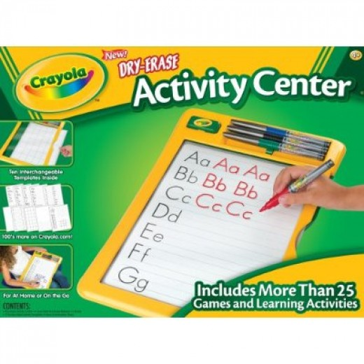 Crayola activity center dry eraser board with markers.