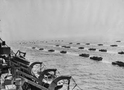 D Day Invasion Fleet Invasion on the Normandy