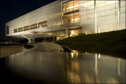 Courtesy of Clinton Library at Night