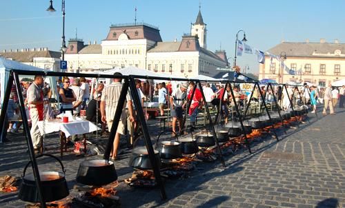 Fisherman's soupfest in Szeged.