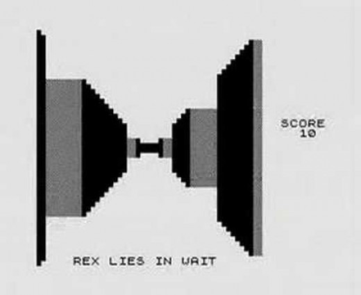 Screen-shot of 3D Monster Maze on the ZX81