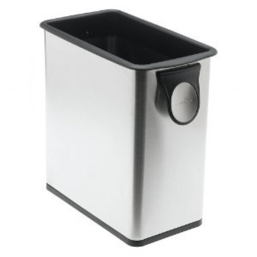 simplehuman Grocery Bag Trash Can, Stainless Steel