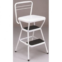 Cosco 11-130WHT Chair/Step Stool, White