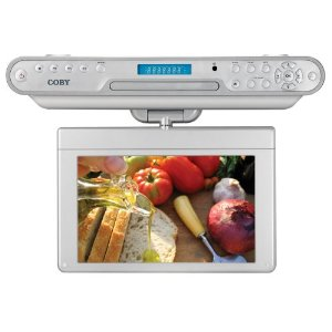 Coby KTFDVD1093 10.2-Inch Under-The-Cabinet LCD TV with Built-in DVD/CD Player and AM/FM Radio(White)
