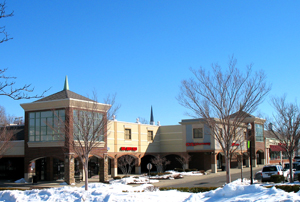 Shaker Towne Center in winter.