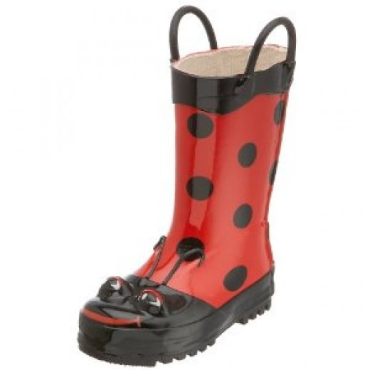 Ladybug rain boots for girls