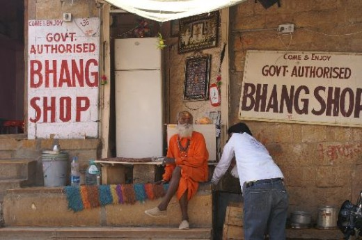 Bhang Shop in India