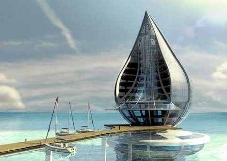 The Water Building designed by Spanish architect Orlando de Urrutia