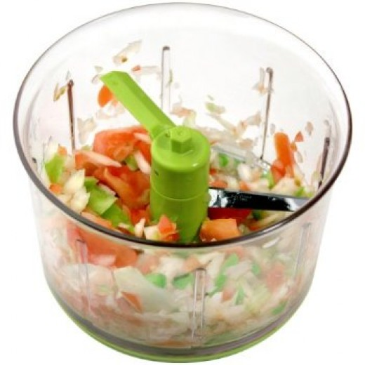 As you can see, this food chopper chops unevenly.