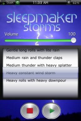 SleepMaker Storms