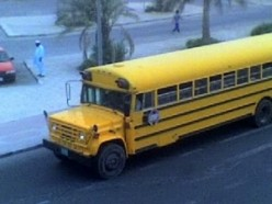 Old American School Buses in Doha, Qatar