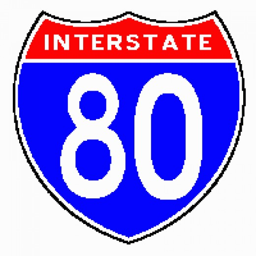 Interstate Highway marker, the most visible symbol of the Interstate system