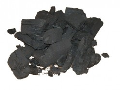 Charcoal used to filter water