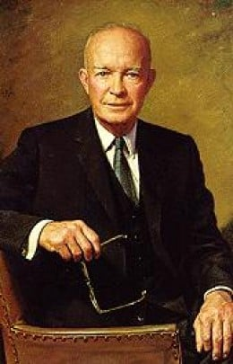 President Dwight D. Eisenhower, who vision helped stimulate the creation of the Interstate system