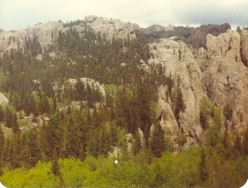 Harney Peak (right, backbround) from Sylvan Lake Trail.