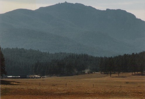 Harney Peak from Rte 385 near Sheridan Reservior.