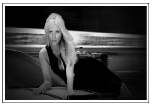 Blondepoet in her little black dress courtesy of Cris A's wonderful hub Women's Portraits.