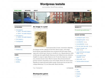 The Clean Wordpress Theme Cutline is a stunningly simple and well designed top ten wordpress theme.