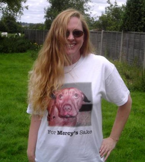 Maria Daines with Mercy T-shirt