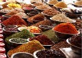 The medicinal uses of of spices cooking in India kitchen