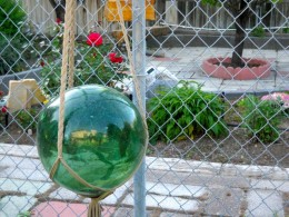 Glass ball I had given my parents from the South Pacific