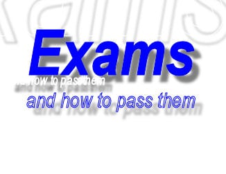 How to pass exams with flying colours