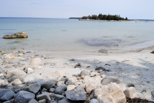 Carter's Beach, Nova Scotia. Can you see why some people say it looks a little bit like the Caribbean?
