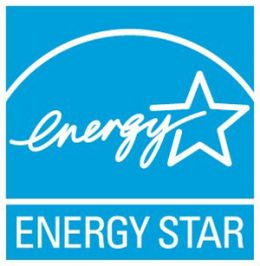 This is the energy star label, it indicates a high efficiency appliance.