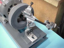 A typical drill sharpening jig.