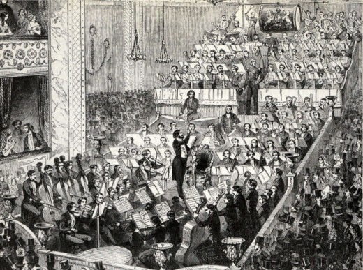 Jullien's Orchestra at a Promenade Concert in Covent Garden Theatre, 1846