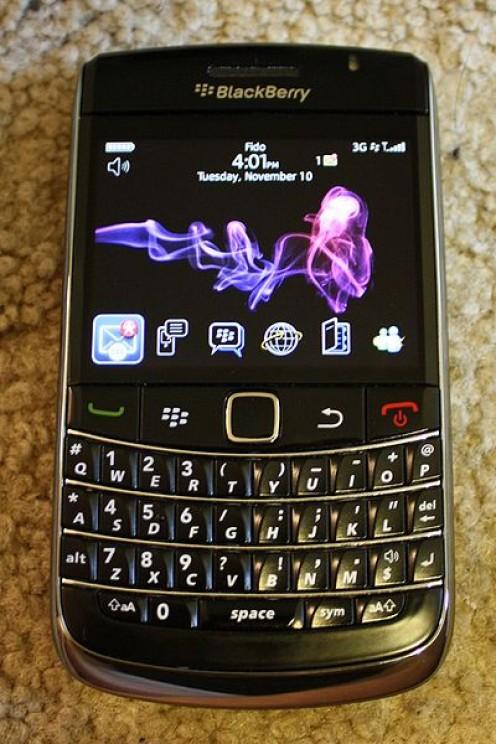 A Blackberry Bold 9700.