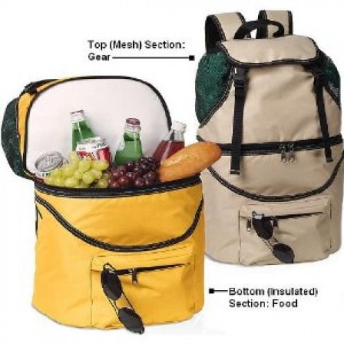 Insulated Waterproof Picnic Backpack - Separate Sections for Food & Gear