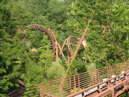 'Iron Butterfly' section of the Tennessee Tornado at Dollywood